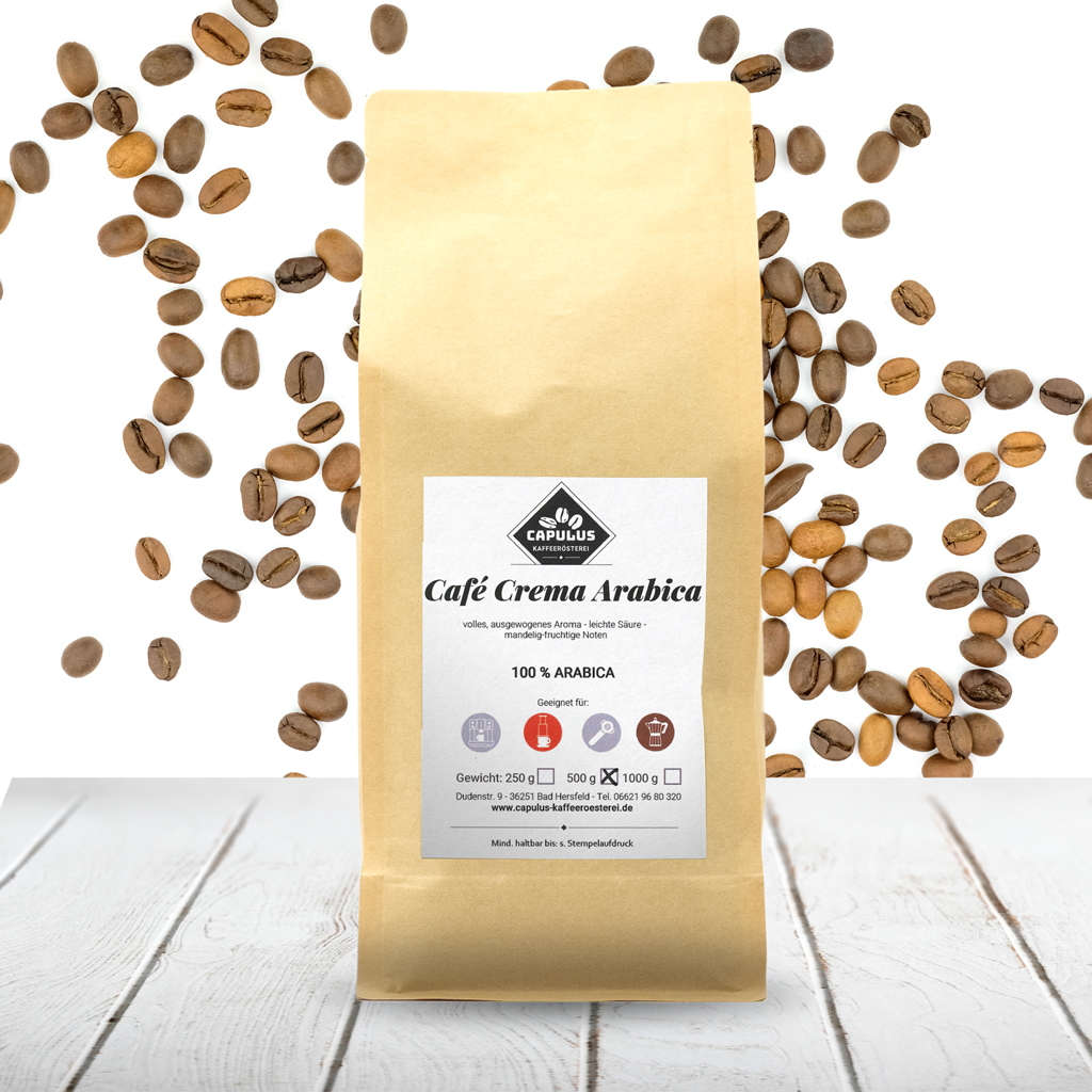CAPULUS Kaffee Cafe-Crema-Arabica 500g