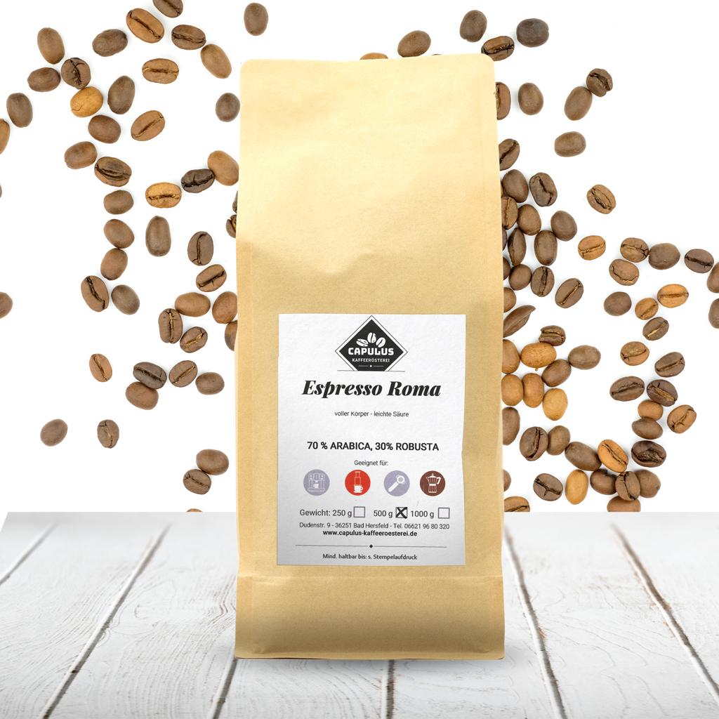 CAPULUS Kaffee Espresso-Roma 500g